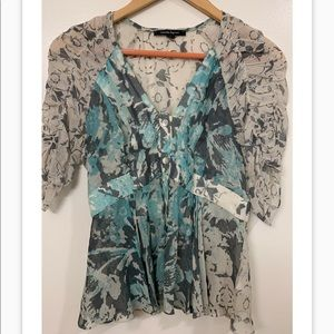 Nanette Lepore Sheer Blouse